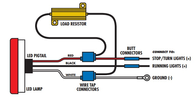 load resistor installation 1 pair of led ultra bright white lights universal 2004 Dodge Durango Wire Schematic at aneh.co